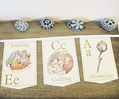 image may gibbs bunting alphabet gumnut babies domum vindemia handmade