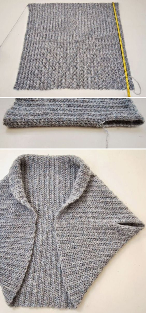 Folded Rectangle Shrug - Free Knitting Pattern
