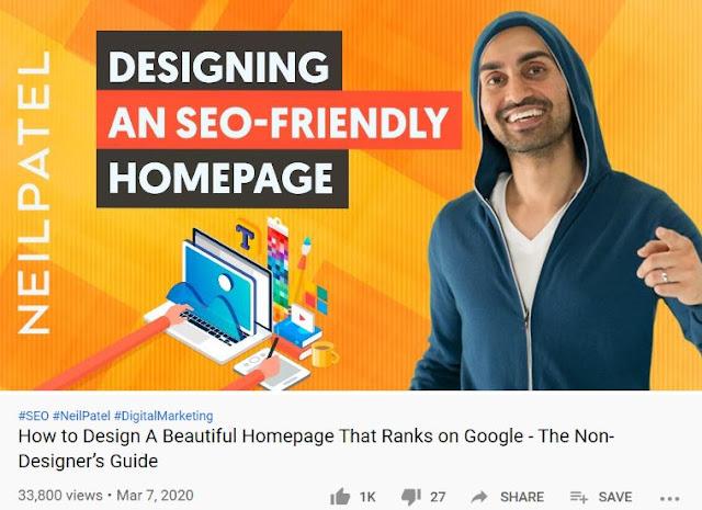 neil patel best youtube video website seo rank homepage