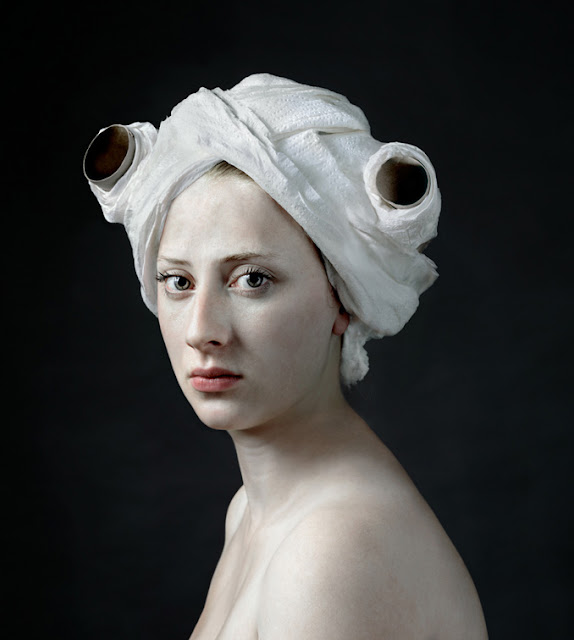 Hendrik Kerstens Emulating Flemish Paintings with Daughter