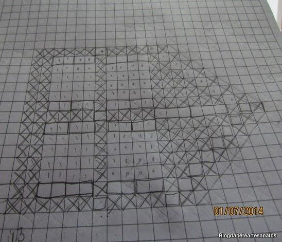Gráfico de Barrado em Crochê