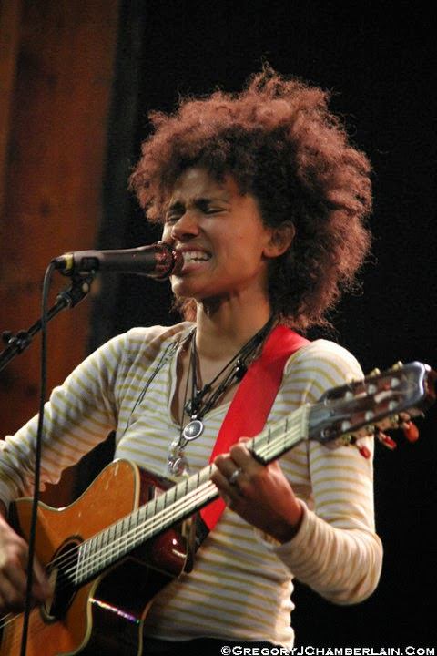 Nneka filmed performance live Rototom Sunsplash,  The-Indies, Photo by Gregory J. Chamberlain,