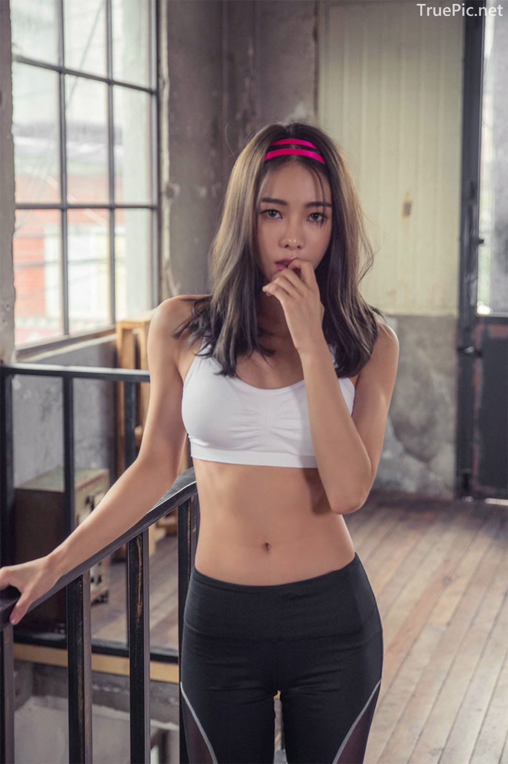 Korean Fashion Model - An Seo Rin - Active Fitnees Set Collection - TruePic.net - Picture 4