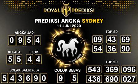 Kode Syair Sydney Kamis 11 Juni 2020 - Royal Prediksi