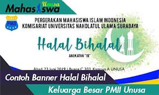 contoh halal bihalal organisasi pmii