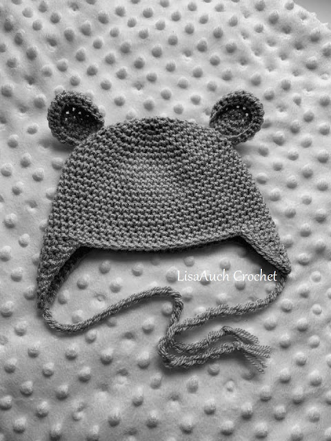 free crochet pattern for baby boy hat with ear flaps