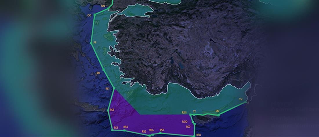 Η Τουρκία διεκδικεί το μισό Αιγαίο με χάρτη