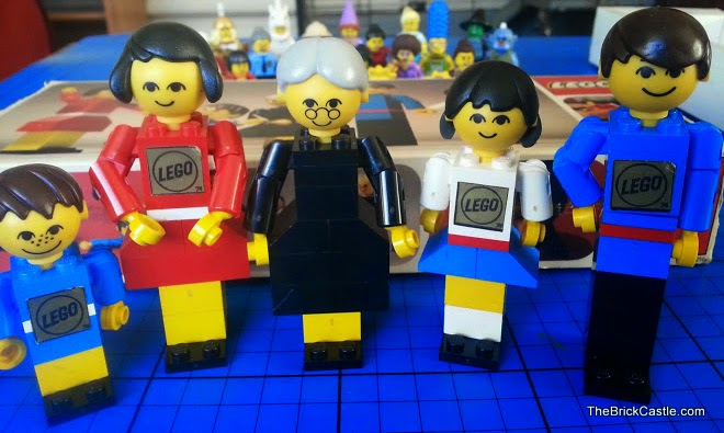 The original 1970's LEGO Family with Grandma, Mum, Dad and two children