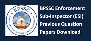 BPSSC Enforcement Sub Inspector (ESI) Previous Question Paper Syllabus 2019 Hindi