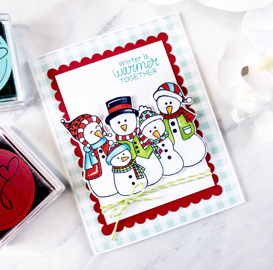 Winter and warm wishes by Crystal features Frosty Friends and Frames & Flags by Newton's Nook Designs; #newtonsnook
