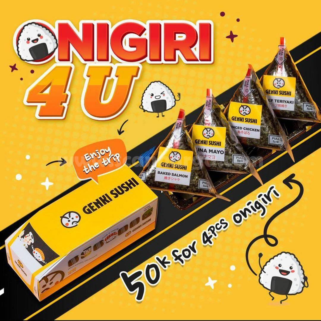 Genki Sushi Special Promo Onigiri Package 4 Pcs For 50K