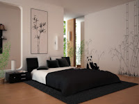 Bedroom layout with nice decoration