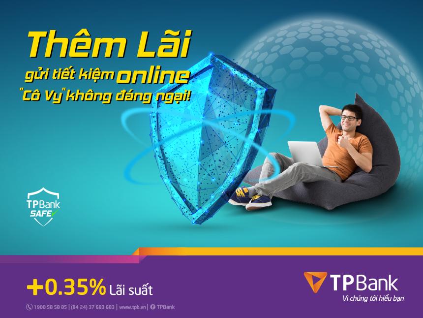 Thêm lãi tiết kiệm online