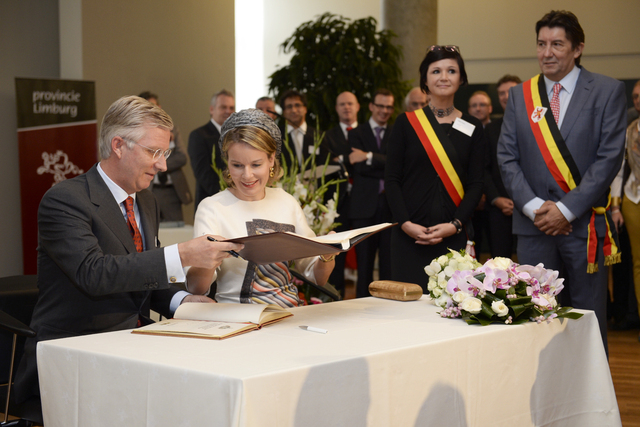 King Philippe and Queen Mathilde in Hasselt