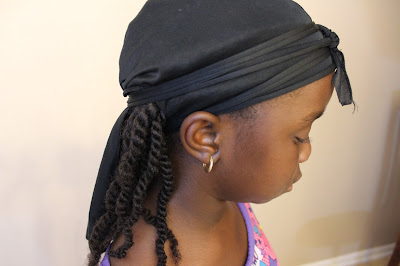 Doo rag on Natural Hair Night Routine