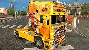 Scania RJL Ristimaa Tiger skin