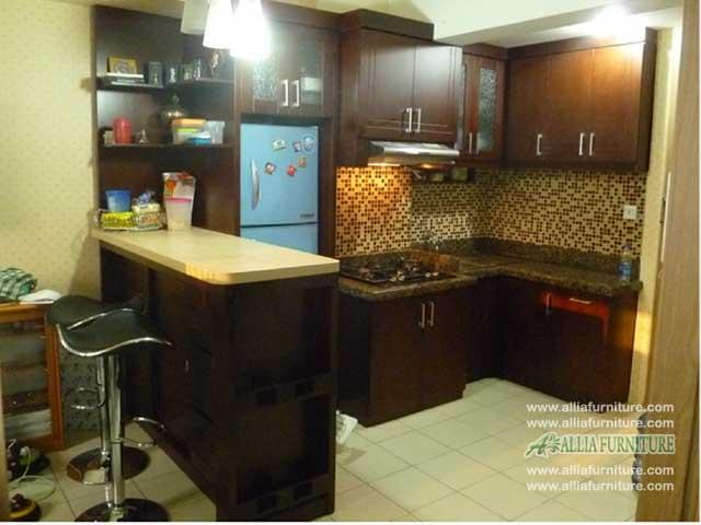 kitchen set minimalis meja bar wooden