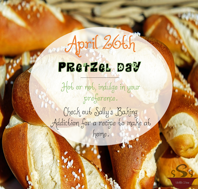 April 26, 2020 is a day to delight in pretzel joy.