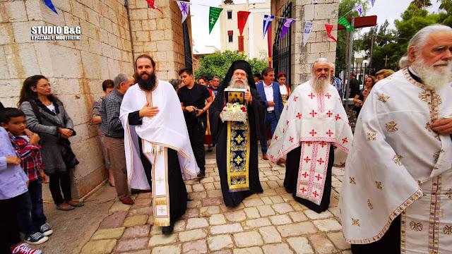 Αργολίδα: Η πόλη του Άργους υποδέχθηκε την Τιμία κάρα του Οσίου Δαβίδ του εν Ευβοία