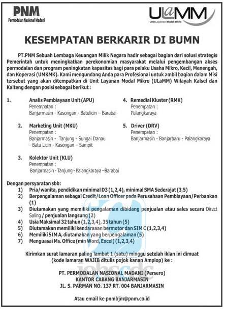 Contoh Surat Lamaran Untuk Pt Permodalan Nasional Madani