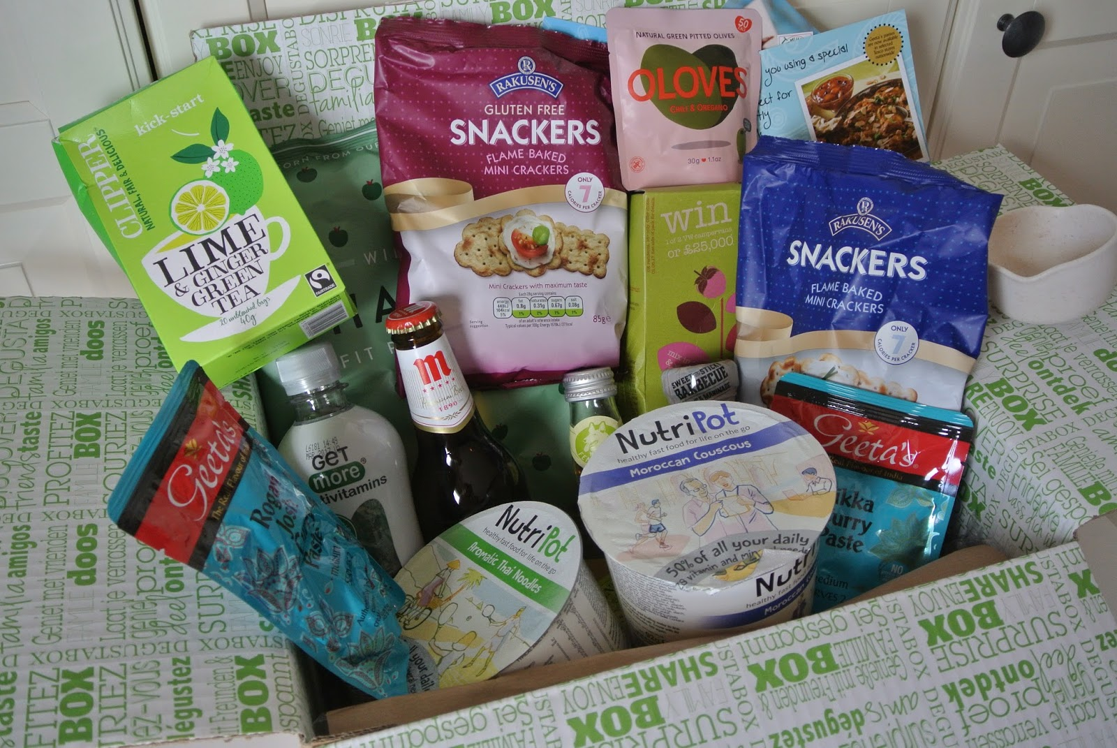 August Degustabox Food Subscription Box Image