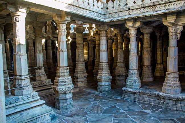 No two pillars are alike