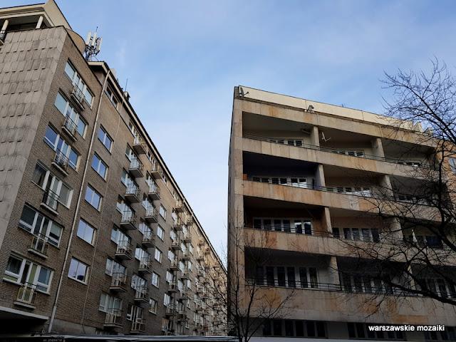 Warszawa Warsaw modernizm modernism architektura architecture lata 60 Jerzy Gieysztor Jerzy Kumelowski luksus balkony mozaika