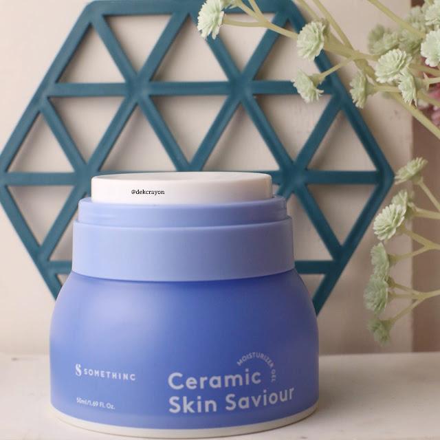 review somethinc ceramide skin saviour moisturizer gel
