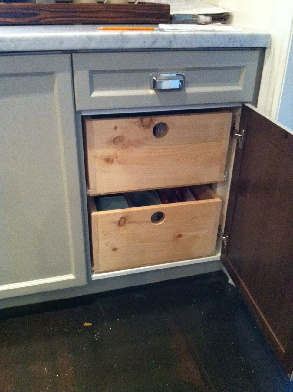 White Wood Making The Most Of Cabinet E Adding Drawers