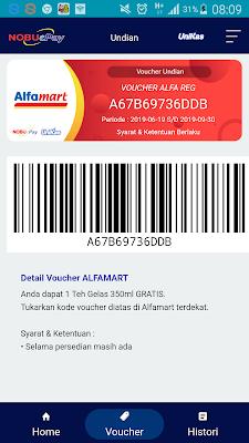 Bukti Voucher Alfamart Gratis Terbaru dari Aplikasi NobuePay