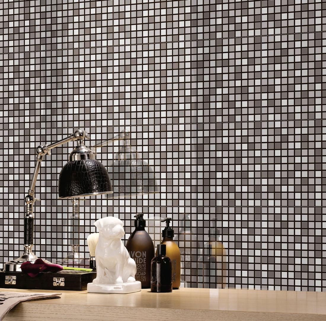 Mosaic shower tiles