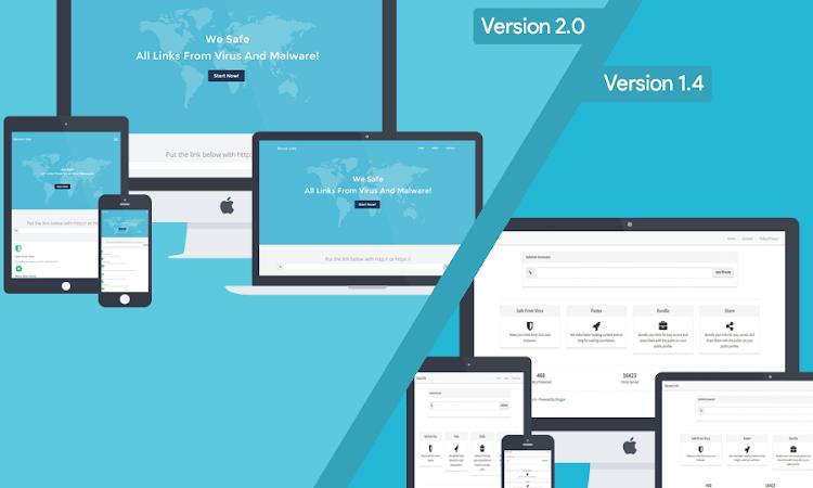New Premium Safelink Blogger Template Update Versi 2
