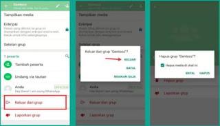 Cara hapus Grup WhatsApp yang Kita Buat