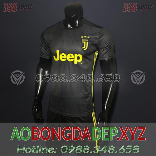 Áo Juventus 2019 Sân Khách 1 Màu Đen Đẹp
