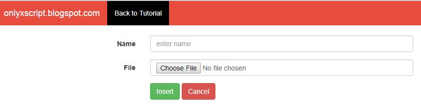 New File Upload Form