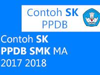 Contoh SK PPDB MAK MA 2017 2018