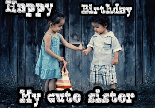 Happy birthday small sister images