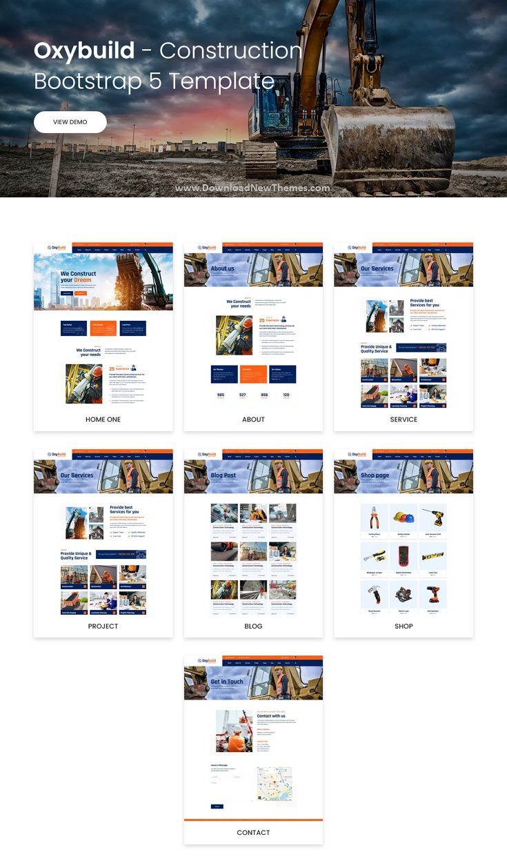 Construction Bootstrap 5 Template