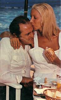 Melato with Renzo Arbore, her long-term partner