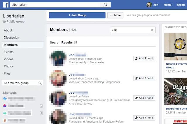 أصدقائك على Facebook