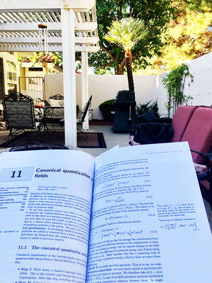 In the meantime, continuing studies of QFT on the patio (Source: Palmia Observatory)