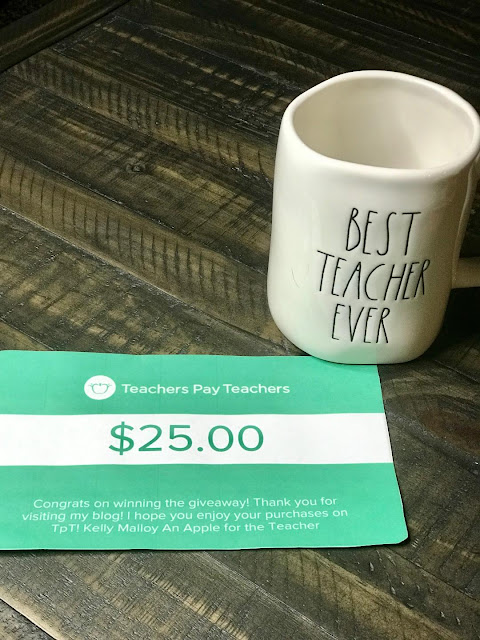$25 Teachers pay Teachers Gift Card Giveaway