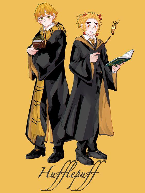 Fan Art Kimetsu No Yaiba site Harry Potter - By しば茶漬け - BlogFanArt