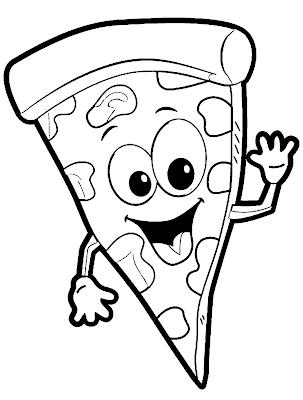 Gambar Mewarnai Pizza - 7