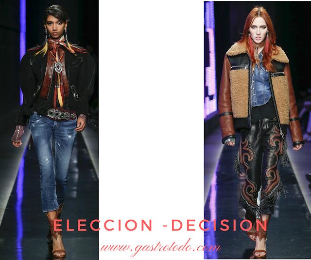 Combina pantalones de cuero con cazadoras multicolor.