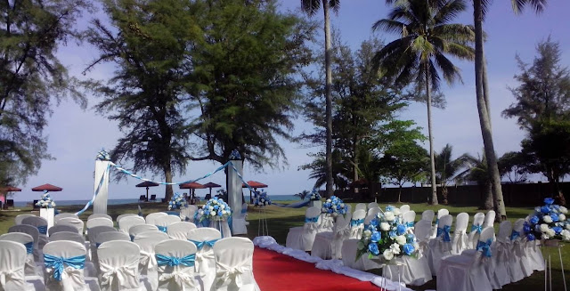 beach wedding pahang