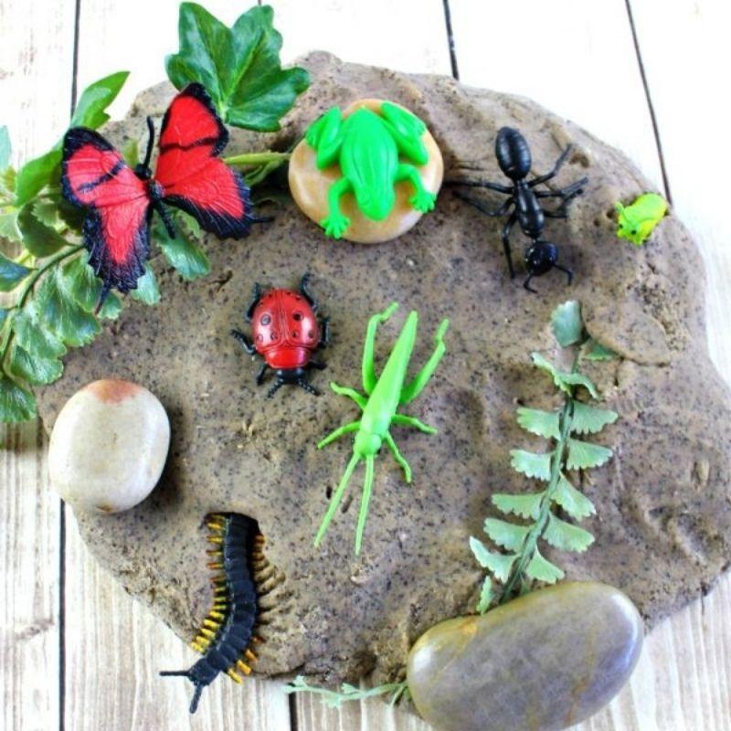dirt playdough made from coffee