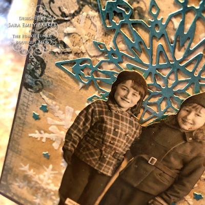 Sara Emily Barker https://sarascloset1.blogspot.com/2019/12/quick-christmas-cards-with-tim-holtz.html Mixed Media Christmas Cards #timholtz #stamperia 11