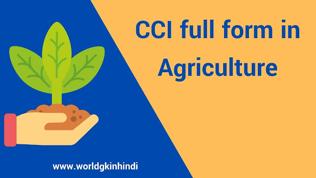 CCI full form in agriculture