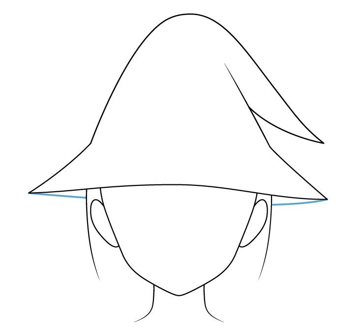 Gambar bawah topi penyihir anime